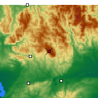 Nearby Forecast Locations - Mount Baw Baw - Kaart