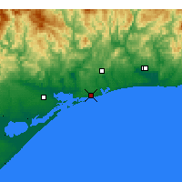 Nearby Forecast Locations - Lakes Entrance - Kaart