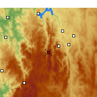 Nearby Forecast Locations - Mount Ginini - Kaart