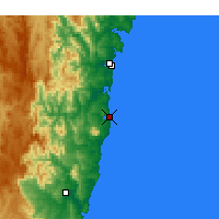 Nearby Forecast Locations - Narooma - Kaart