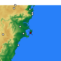 Nearby Forecast Locations - Jervis Bay - Kaart
