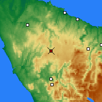 Nearby Forecast Locations - Waratah - Kaart