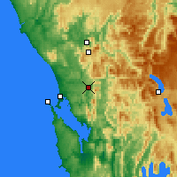 Nearby Forecast Locations - Queenstown - Kaart