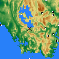 Nearby Forecast Locations - Scotts Peak - Kaart