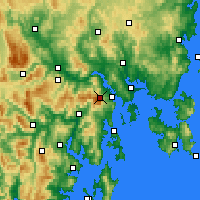 Nearby Forecast Locations - Mt Wellington - Kaart