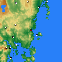 Nearby Forecast Locations - Orford - Kaart
