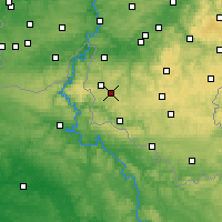 Nearby Forecast Locations - Bièvre - Kaart