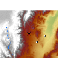 Nearby Forecast Locations - San Salvador de Jujuy - Kaart