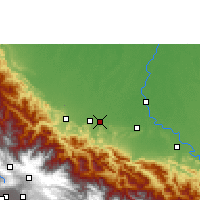 Nearby Forecast Locations - Chimoré - Kaart