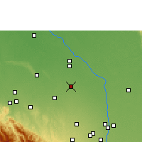 Nearby Forecast Locations - Saavedra - Kaart