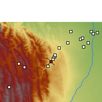 Nearby Forecast Locations - Tiquipaya - Kaart