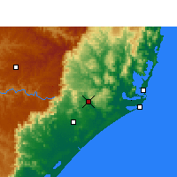 Nearby Forecast Locations - Araranguá - Kaart