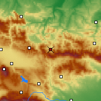 Nearby Forecast Locations - Etropole - Kaart