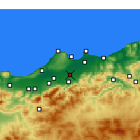 Nearby Forecast Locations - Sidi Moussa - Kaart