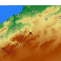 Nearby Forecast Locations - Ouled Mimoun - Kaart
