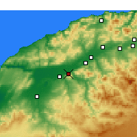Nearby Forecast Locations - Oued Rhiou - Kaart