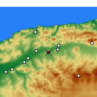Nearby Forecast Locations - Oued Fodda - Kaart