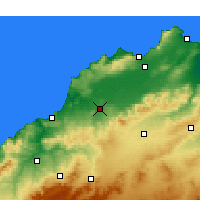 Nearby Forecast Locations - Hammam Bou Hadjar - Kaart