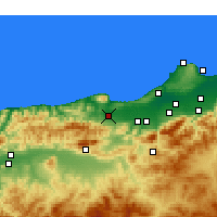 Nearby Forecast Locations - Hadjout - Kaart