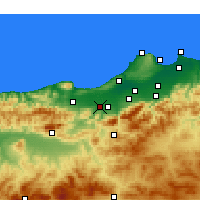 Nearby Forecast Locations - El Affroun - Kaart