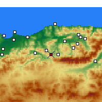 Nearby Forecast Locations - Draâ El Mizan - Kaart