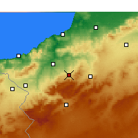 Nearby Forecast Locations - Chetouane - Kaart