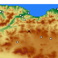 Nearby Forecast Locations - Bougaa - Kaart