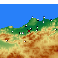 Nearby Forecast Locations - Béni Mered - Kaart