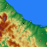 Nearby Forecast Locations - Montenero di Bisaccia - Kaart