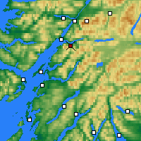 Nearby Forecast Locations - Ballachulish - Kaart