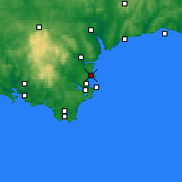 Nearby Forecast Locations - Torquay - Kaart