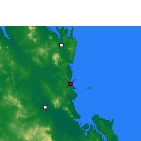 Nearby Forecast Locations - Yeppoon - Kaart