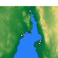 Nearby Forecast Locations - False Bay - Kaart