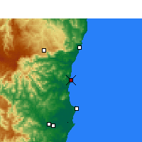 Nearby Forecast Locations - Nambucca Heads - Kaart