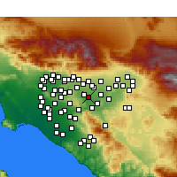 Nearby Forecast Locations - Chino - Kaart