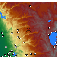 Nearby Forecast Locations - Blue Canyon - Kaart