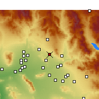 Nearby Forecast Locations - Scottsdale - Kaart