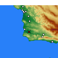 Nearby Forecast Locations - Lompoc Airport - Kaart