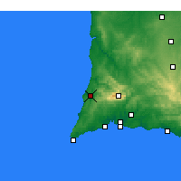 Nearby Forecast Locations - Aljezur - Kaart