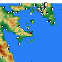 Nearby Forecast Locations - Poros - Kaart