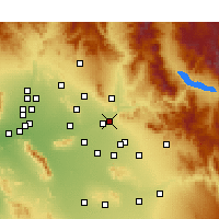 Nearby Forecast Locations - Mesa - Kaart