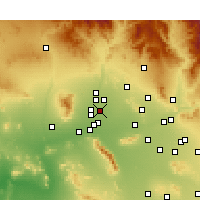 Nearby Forecast Locations - Glendale - Kaart