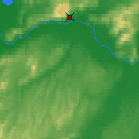 Nearby Forecast Locations - Manley Hot Springs - Kaart