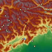 Nearby Forecast Locations - Cadore - Kaart