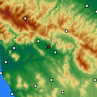 Nearby Forecast Locations - Prato - Kaart
