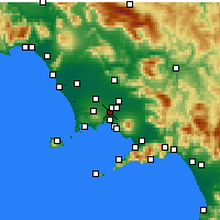 Nearby Forecast Locations - Casoria - Kaart