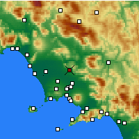 Nearby Forecast Locations - Caserta - Kaart