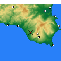 Nearby Forecast Locations - Vittoria - Kaart