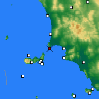 Nearby Forecast Locations - Piombino - Kaart