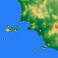 Nearby Forecast Locations - Punta Ala - Kaart